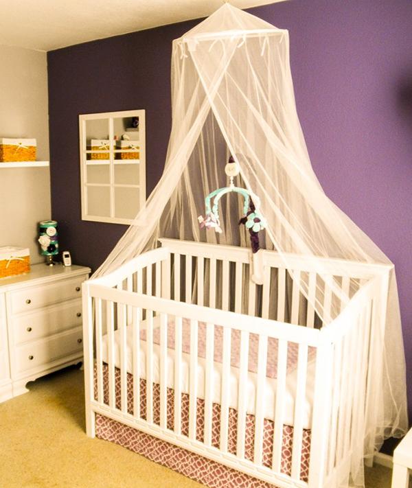 Кроватка с балдахином для новорожденного своими руками 80