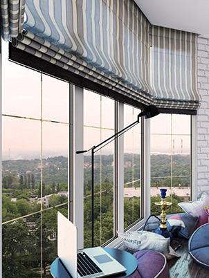 шторы на панорамные окна 30 фото какие выбрать шторы для