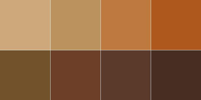 Фото: теплая гамма коричневых оттенков