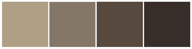 Фото: пепельная гамма коричневых оттенков