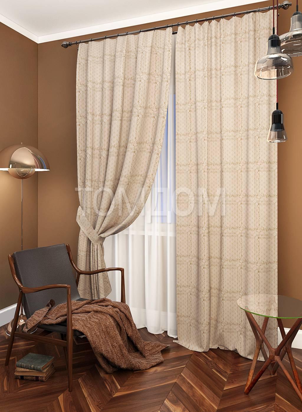 Цвет обоев при коричневой мебели фото