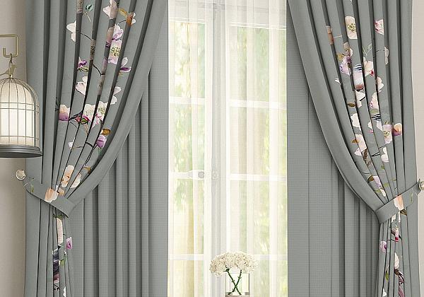 Комплект штор Лолфи (темно-серый) фото
