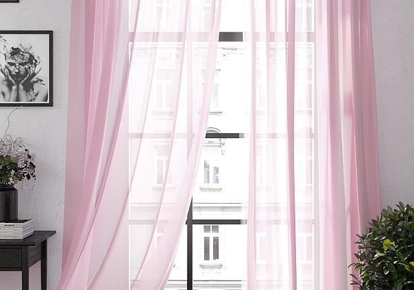 Тюль Ларези (розовый) фото