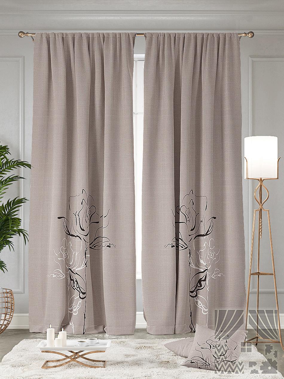 Современные шторы из льна для гостиной фото лишь