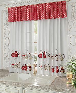 Талирис (красный) комплект штор томдом натеро красный
