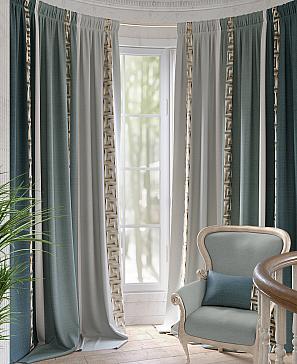 Комплект штор ТомДом Арианис (зеленый) комплект полотенец томдом тафири зеленый
