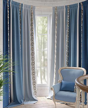 Комплект штор ТомДом Арианис (синий) наволочка томдом авриотс синий