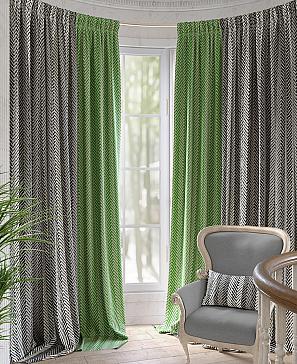 Комплект штор ТомДом Адельфис (зеленый)