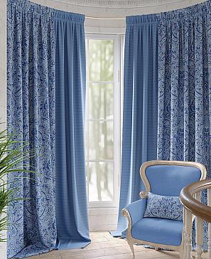 Комплект штор ТомДом Амелис (синий) наволочка томдом авриотс синий