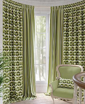 Комплект штор ТомДом Анетт (зеленый) фото