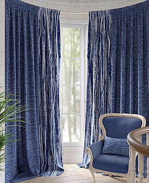 Комплект штор ТомДом Джонси (синий) наволочка томдом авриотс синий