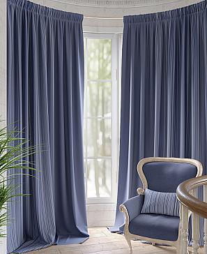 Комплект штор ТомДом Маппет (синий) наволочка томдом авриотс синий