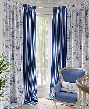Комплект штор ТомДом Карид (синий) комплект штор томдом матуш синий