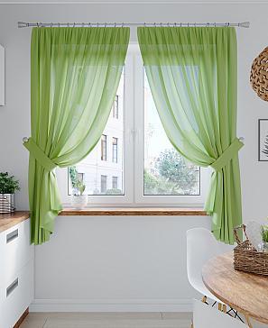 Комплект штор ТомДом Лирика (зеленый) фото