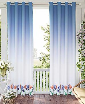 Комплект штор ТомДом Рилонион (синий) комплект штор томдом матуш синий