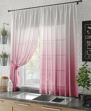 Тюль ТомДом Тристар (розовый)