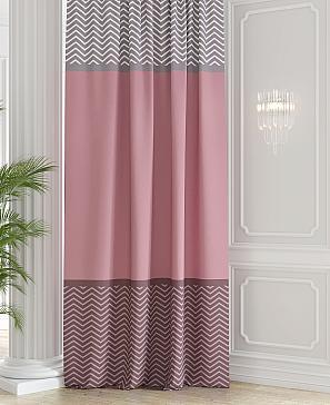 Портьера ТомДом Тинисио (серо-розовый) фото
