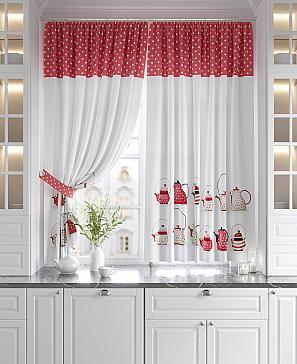 Калтис (красный) комплект штор томдом натеро красный