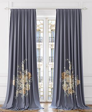Лирдонс (фиолетово-серый) комплект штор томдом шелби серый