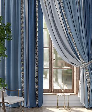 Комплект штор ТомДом Фликсит (синий) комплект штор томдом матуш синий