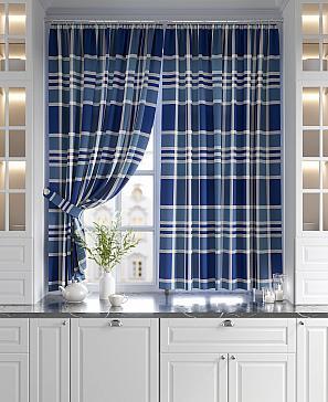 Комплект штор ТомДом Ронкос (синий) комплект штор томдом матуш синий