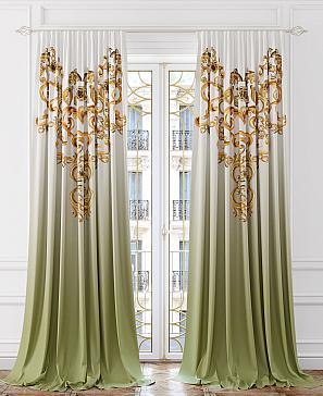Комплект штор ТомДом Милгор (зеленый) комплект полотенец томдом тафири зеленый