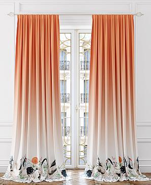 Комплект штор ТомДом Гилмрон (оранжевый)