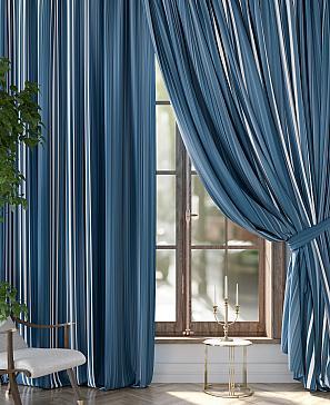 Комплект штор ТомДом Гилброн (синий) комплект штор томдом матуш синий