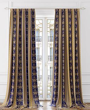 Комплект штор ТомДом Миролса (синий) комплект штор томдом матуш синий