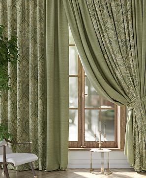 Комплект штор ТомДом Рифлос (зеленый) комплект полотенец томдом тафири зеленый