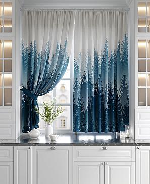 Комплект штор ТомДом Тейлинс (синий) комплект штор томдом матуш синий