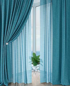 Комплект штор ТомДом Лерониос (голубой) фото