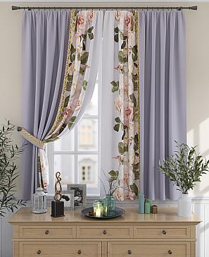Комплект штор ТомДом Тара (лиловый)