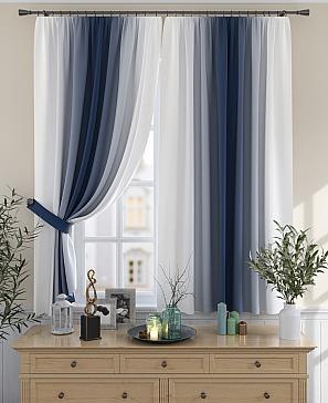 Комплект штор ТомДом Мираниас (синий)