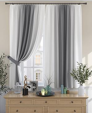 Комплект штор ТомДом Мираниас (серый)