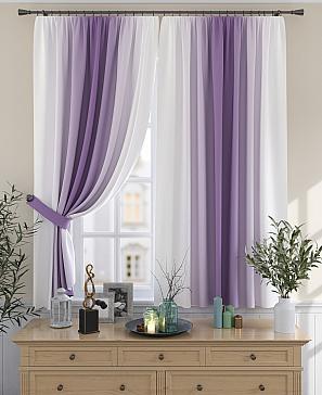 Комплект штор ТомДом Мираниас (фиолетовый)