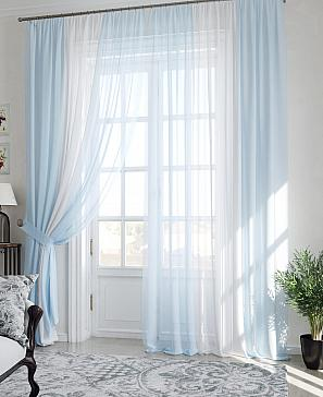 Лаури (бело-голубой) - 290 см
