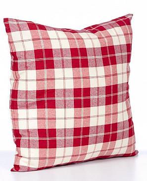 Подушка «Кантри» красного цвета