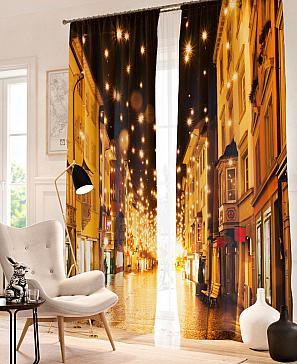 Комплект фотоштор ТомДом Рождественская улица комплект фотоштор томдом фентази