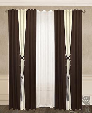 купить готовые комплекты штор с тюлем недорого большой каталог