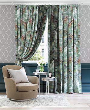 Комплект штор ТомДом Семил (зеленый мрамор) комплект полотенец томдом тафири зеленый