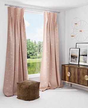 Комплект штор ТомДом Афелис (бежево-розовый) фото