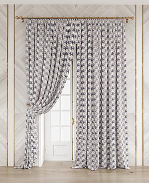 Комплект штор ТомДом Арменти (серо-фиолетовый) фото