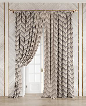 Комплект штор ТомДом Люсиль (коричневый)