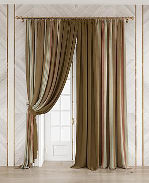 Комплект штор ТомДом Делисион (коричневый)