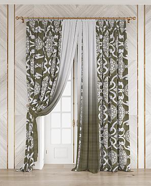 Комплект штор ТомДом Виниль (зеленый) фото