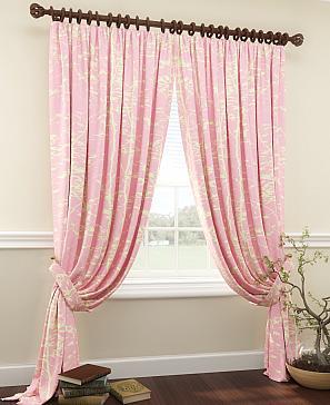 Комплект штор ТомДом Тризи (розовый) фото