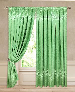 Комплект штор ТомДом Друс (зеленый) комплект полотенец томдом тафири зеленый