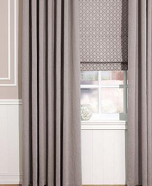 Комплект штор Комплект штор ТомДом Рамбус (серо-коричневый)