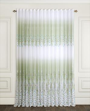 Тюль ТомДом Лефли (зеленый) фото